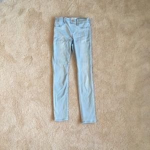 ABERCROMBIE light wash jeans.